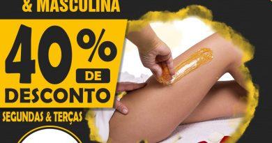 Depilação com método espanhol, desconto de 40%, só no Rede de Vantagem
