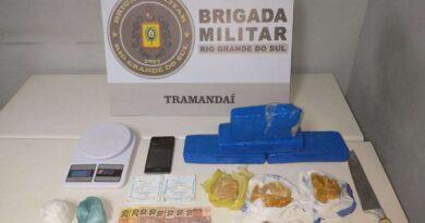 Adolescente é apreendido com cerca de três quilos de drogas em Tramandaí