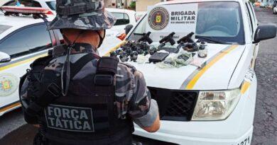 Criminosos são presos com armas e grande quantidade de drogas em Tramandaí