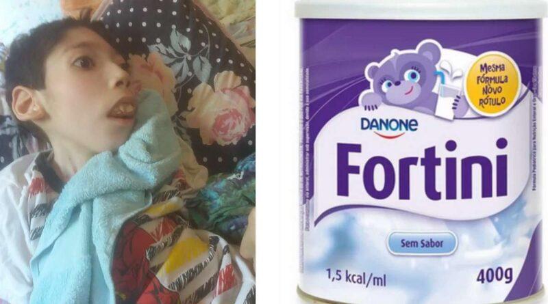 Família busca ajuda para compra de leite que alimenta menino com paralisia cerebral